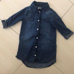 Dark Denim Chambray Toddler Dress